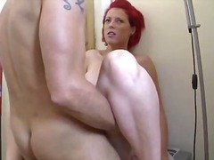 sucking, sex, oral, mature, redhead, fucking, pov point of view, facial, cum, german