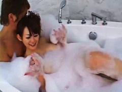 аматьори, баня, момичета, бели, азиатки, пръсти