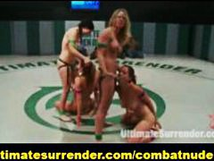 wrestling, group sex, hot, public, lesbian, submission, models, catfight, nudefight, blond