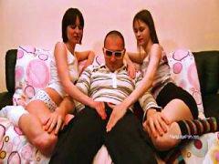 тройка, тийнейджъри, игра, момичета