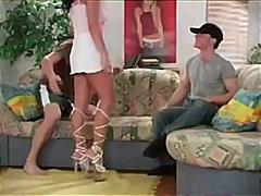 голям бюст, мъж-мъж-жена, групов секс