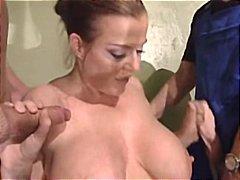 ドイツ人, 二穴同時挿入, 熟女, 大きな尻と巨乳