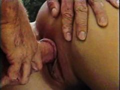 anal, hairy, pussy, high heels, babe, fake tits, missionary, fucking, curly hair, hairy pussy