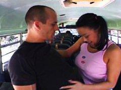училище, автобус, яки мацки, азиатки