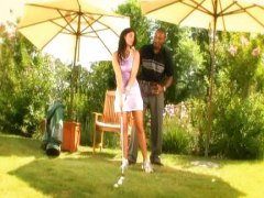 India Summer, fucking, outdoor, teacher, golf, india summer, interracial, girl, india, black