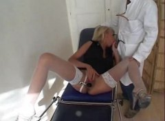doctor, doggystyle, patient, hot, milf, stockings, big tits, hard, medical, blowjob