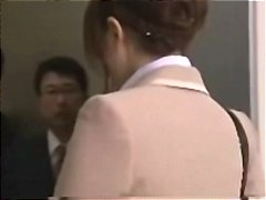creamy, gangbanged, elevator, blowjob, facial, office, asian, secretary, japanese, lady