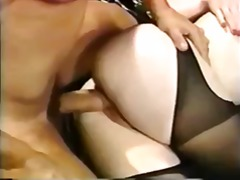 huge cock, small tits, hardcore, classic, big cock, on, blowjob, facial, retro, red head