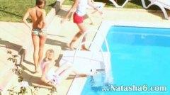 басейн, лесбийки, тийнейджъри, аматьори