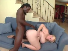 blonde, interracial, black cock, shaved, fat, hardcore, riding, doggystyle, cock, black