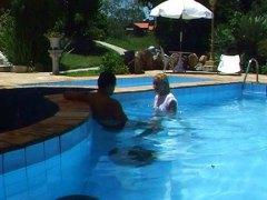 шибане, латинки, блондинки, басейн, анално