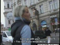 blond, öffentlichkeit, tschechien, arsch, babe, pov, draußen, amateur, euro