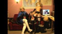 lesbisch, ladyboy, shemale, rollenspiele
