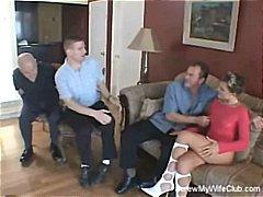 съпруга, уеб камера, групов секс, блондинки