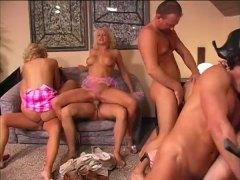 милф, четворка, групов секс, анално