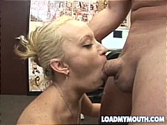 hardcore, blowjob, schlucken, blond
