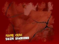 dp, cums, fmm, brunette, creampie, double penetration, diamond, anal, suzie diamond, gape