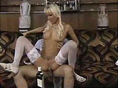 pornstar, pigtail, rubbing, blonde, wet, cumshot, kissing, lingerie, blowjob, riding