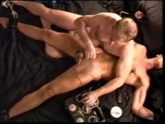 gay, hot, on, blond, stud, young, muscular, dungeon, machine, extreme