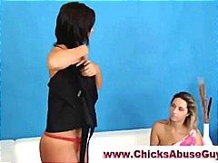 унижение, жена гол мъж, женска доминация, страп-он