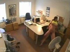 hidden cams, caught, fucking, on, security, voyeur, secretary, camera, big boobs