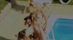 тийнейджъри, лесбийки, шибане, басейн, аматьори