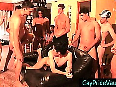 orgie, gay, groupe, anal, ours, cul