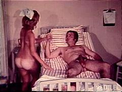 nurse, couple, cum shot, caucasian, blowjob, vintage