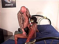 pärchen, stiefel, anal, interracial, blowjob, ebenholz