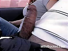 ebony, car, blowjob, couple, amateur