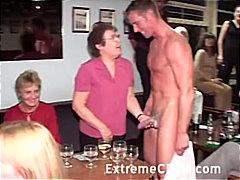 парти, жена гол мъж, свирки, двойка, блондинки
