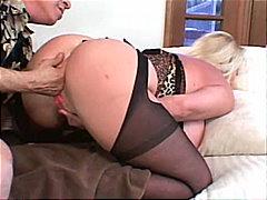 big tits, couple, blowjob, caucasian, blonde