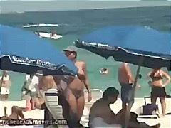 прашки, цици, бикини, плаж, публично