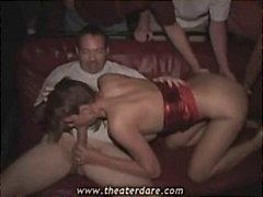 sucking, slut, risky, blonde, cock, public, amateur, reality, group, milf