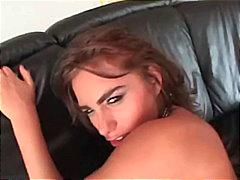 creampie, anal, seidenstrümpfe, brünette, blowjob, pornostar, öl, arsch, cumshot