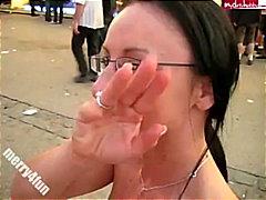 ハメ撮り, ドイツ人, ヨーロッパ人, 売春婦, フェラチオ, 公衆