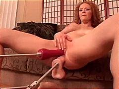Audrey Hollander, double, vaginal, toys, head, audrey hollander, hardcore, penetration, red