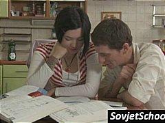 поли, рускини, училище, тийнейджъри, брюнетки