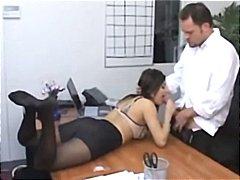 Sativa Rose, nylons, fetish, sekretärin, pornostar, blowjob, strumpfhose