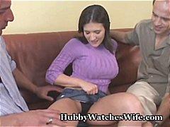 पत्नी, बड़े स्तन, वीर्य निकालना