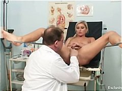 rectal exam, gyno exam, summer sin, blonde, extreme, uniform, bizarre, weird, pussy, speculum