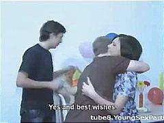 double penetration, brunette, blowjob, cumshots, anal