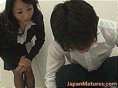 gros seins, femmes mûres, mamans, japonais, groupe, jeune fille, amateurs, orgie