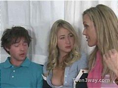 teenager, milfs, blowjobs, forførelse, blondiner