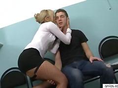 milf, stockings, office, facial, hardcore, secretary, petite, cumshot, anilos, orgasm