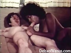 ビンテージ, レトロ, 美少女, 黒人, カーセックス, 異人種間セックス