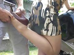 ストッキング, 脚フェチ, フェティッシュ, 野外セックス, 素人