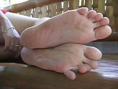 азиатки, фетиш с крака