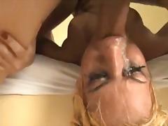 bondage, doggystyle, aggressive, fake tits, hardcore, gagging, messy, facefuck, deepthroat