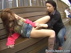 asian, japanese, interracial, voyeur, public, blowjob, outdoor